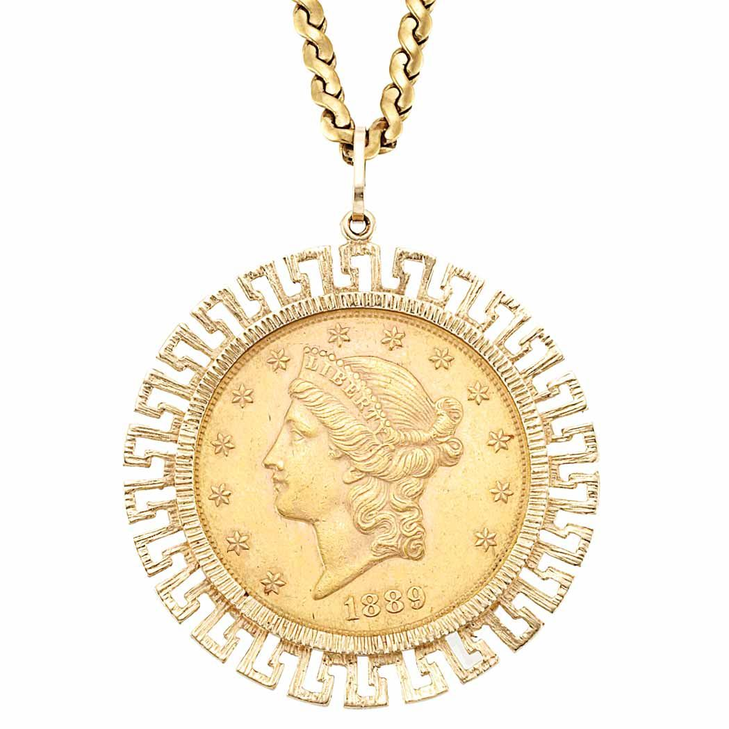 Fine Jewelry Sale 13jl01 Lot 745 Doyle New York Gold Coin Jewelry Coin Jewelry Fine Jewelry Sale
