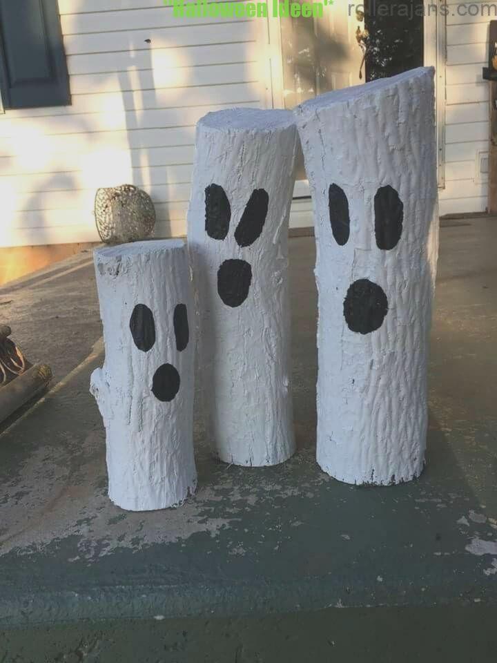 Ghost Logs Simple Craft, Einfache Perspektiven, um Ihren persönlichen Mer ... #decohalloweenmaison