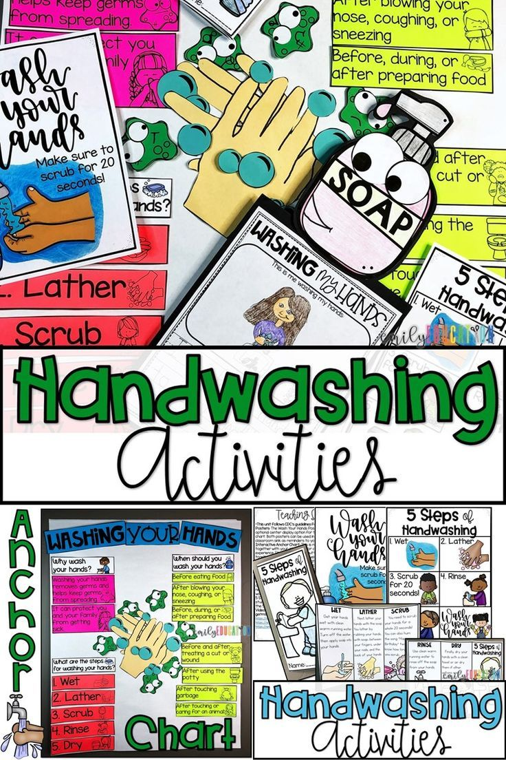 Hand Washing Activities Posters, Craft and more Hand