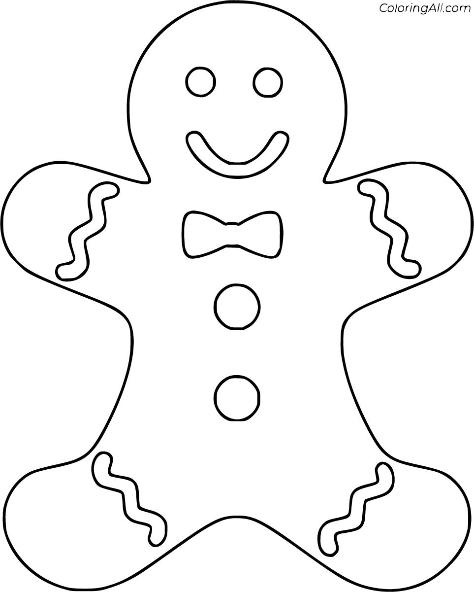 50 Free Printable Gingerbread Man Coloring Pages In Vector Format Easy To Print From A In 2020 Christmas Coloring Pages Gingerbread Man Coloring Page Christmas Colors