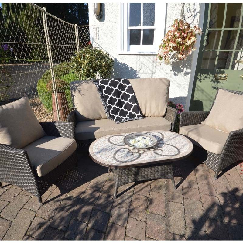 Savannah Lounge Set, beautifully weave lounge sofa and armchairs with coffee table, stylish garden furniture
