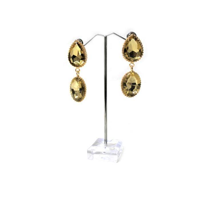Fashion Jewelry - Gold Plate Double Water Drop Earrings - E0924
