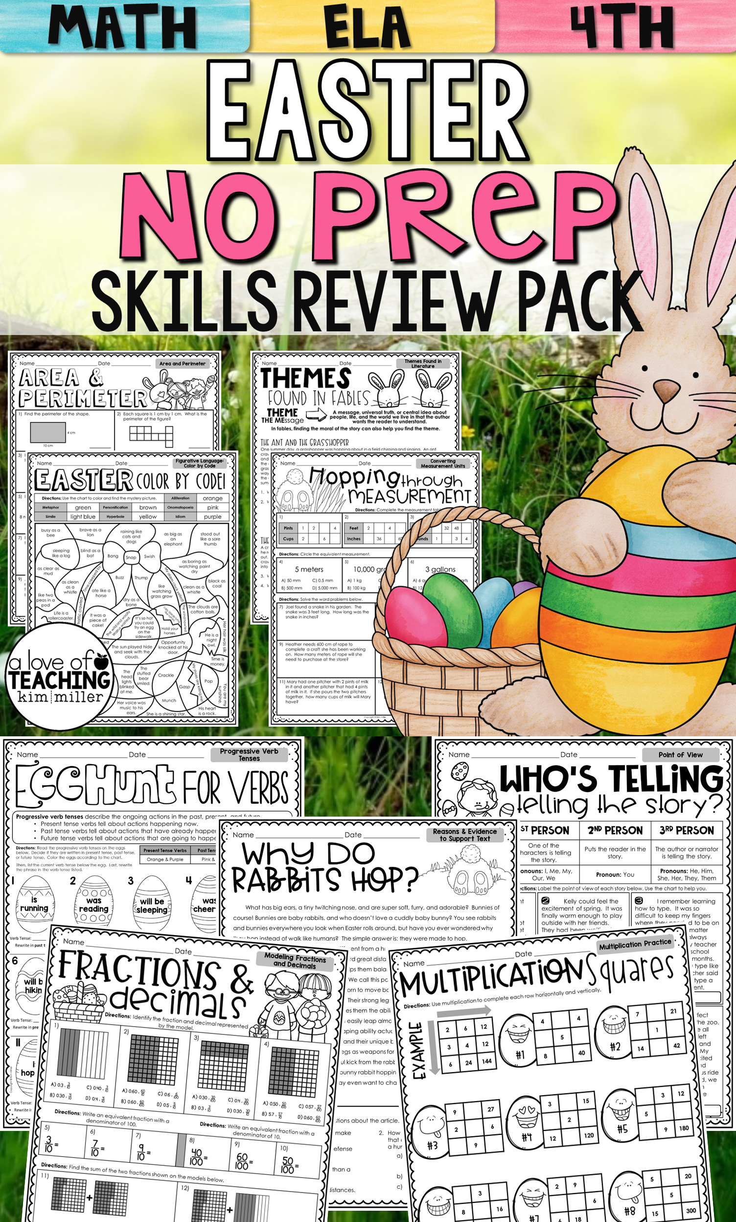 Easter Activities No Prep Packet
