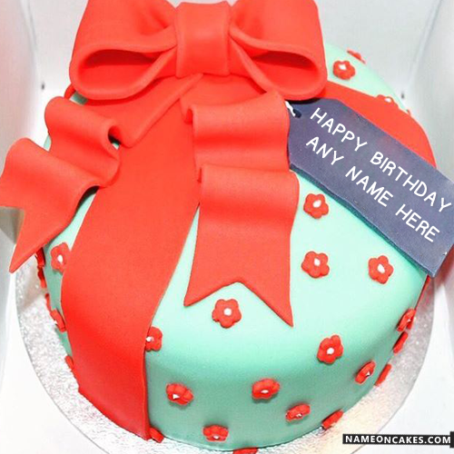 Lovely Fondant Birthday Cake For Boys With Name HBD Cake