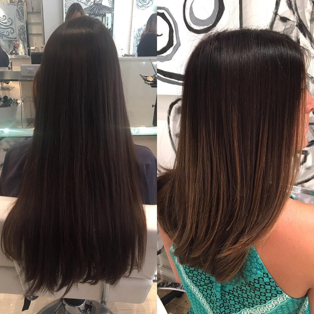 Medium+length+brown+hair+with+light+brown+balayage