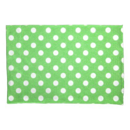 Polka Dot Pillowcases Delectable Green Polka Dots Pillowcase  #pillowcases #pillowcase #home #bed Design Decoration