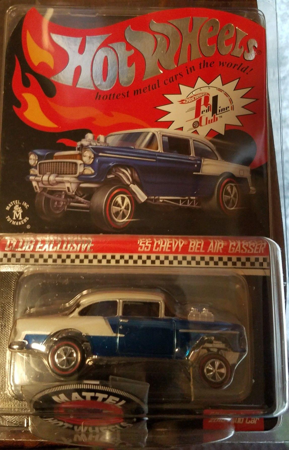 Hot Wheels RLC Club exclusive 55 Chevy Bel air gasser | Hot