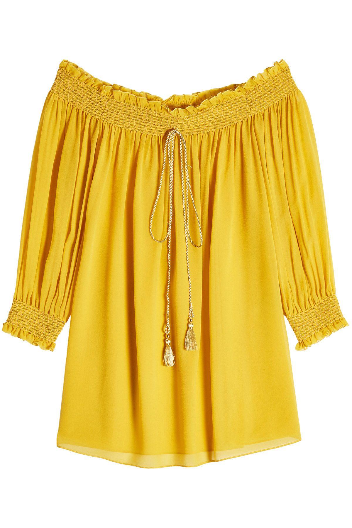 22c46142e24 Roberto Cavalli Silk Off-The-Shoulder Blouse | Designer (Latest) in ...