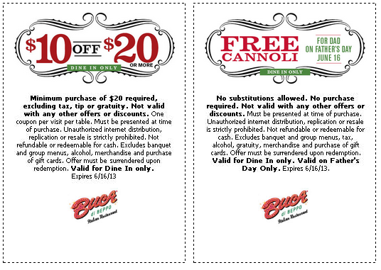 graphic about Buca Di Beppo Printable Coupons named Pin upon Discount coupons