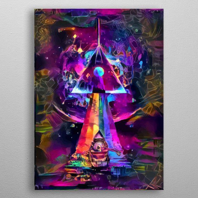 Psychedelic Cosmic Travel by Start | metal posters - Displate | Displate - | Displate thumbnail