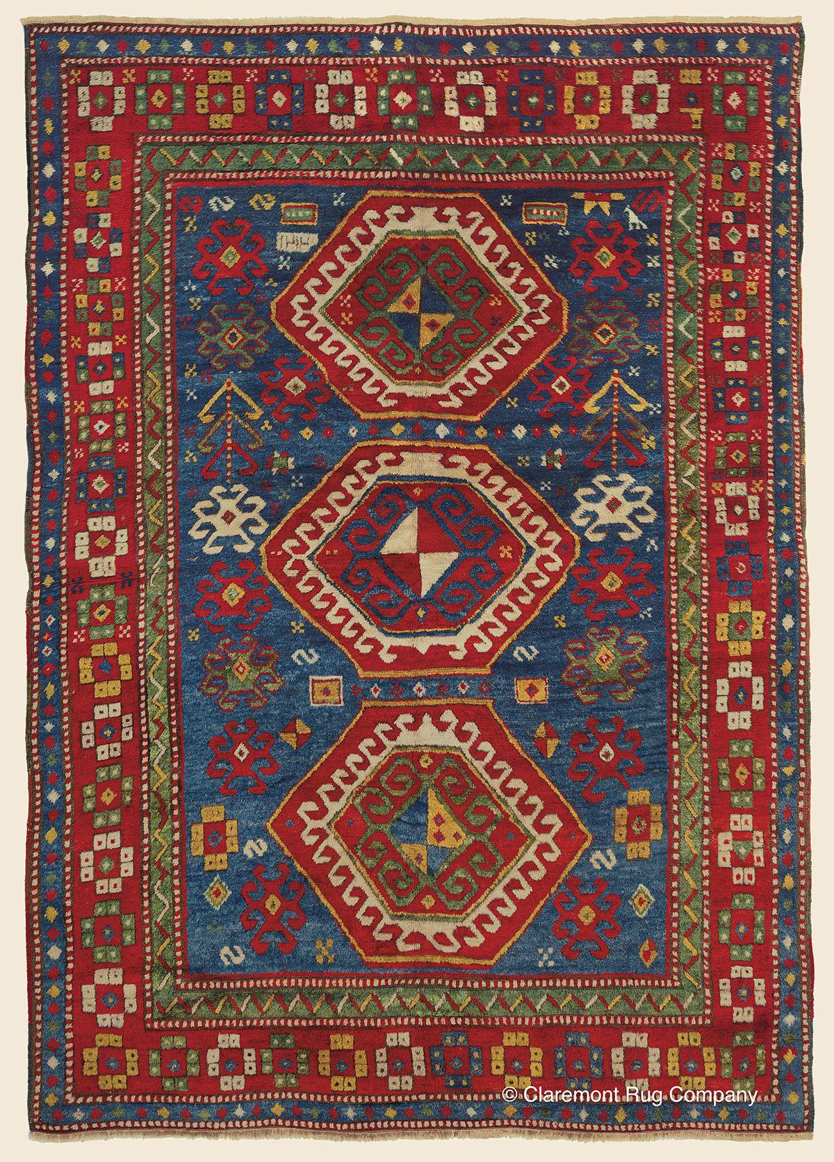 Bordjalou Kazak Southeast Caucasian Antique Rug 5 4 X 7 10 Dated 1894 Claremont Rug Company Antique Persian Carpet Rugs On Carpet Carpet Handmade