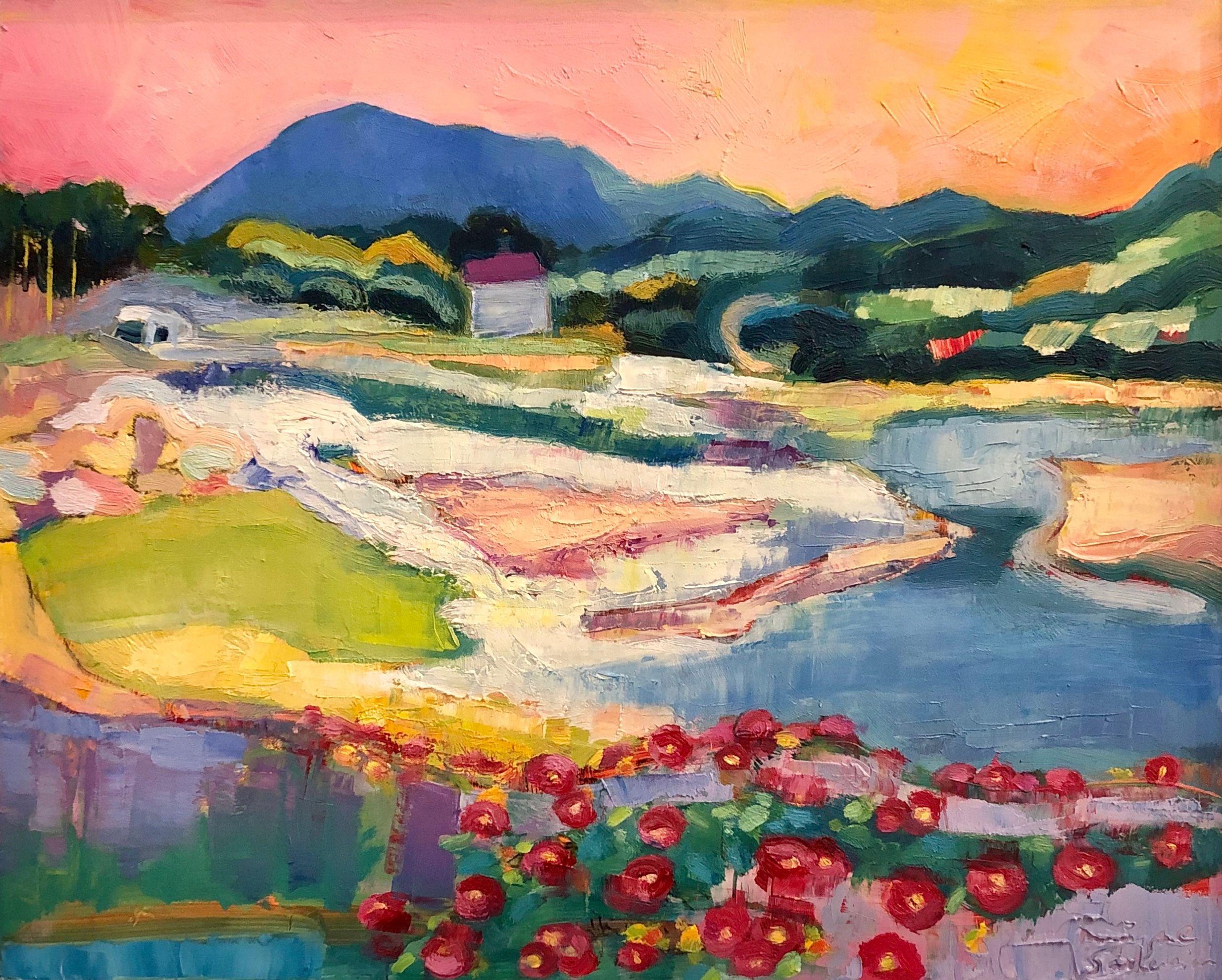 Beautiful plein air painting by Monique Sarkessian Quebec