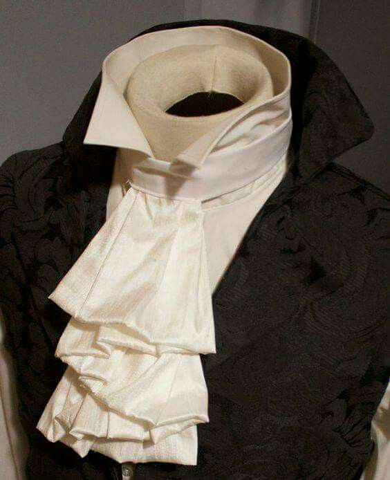 Cravat Fashion Mens Gothic Shirt White Top Court Steampunk Regency Aristocrat