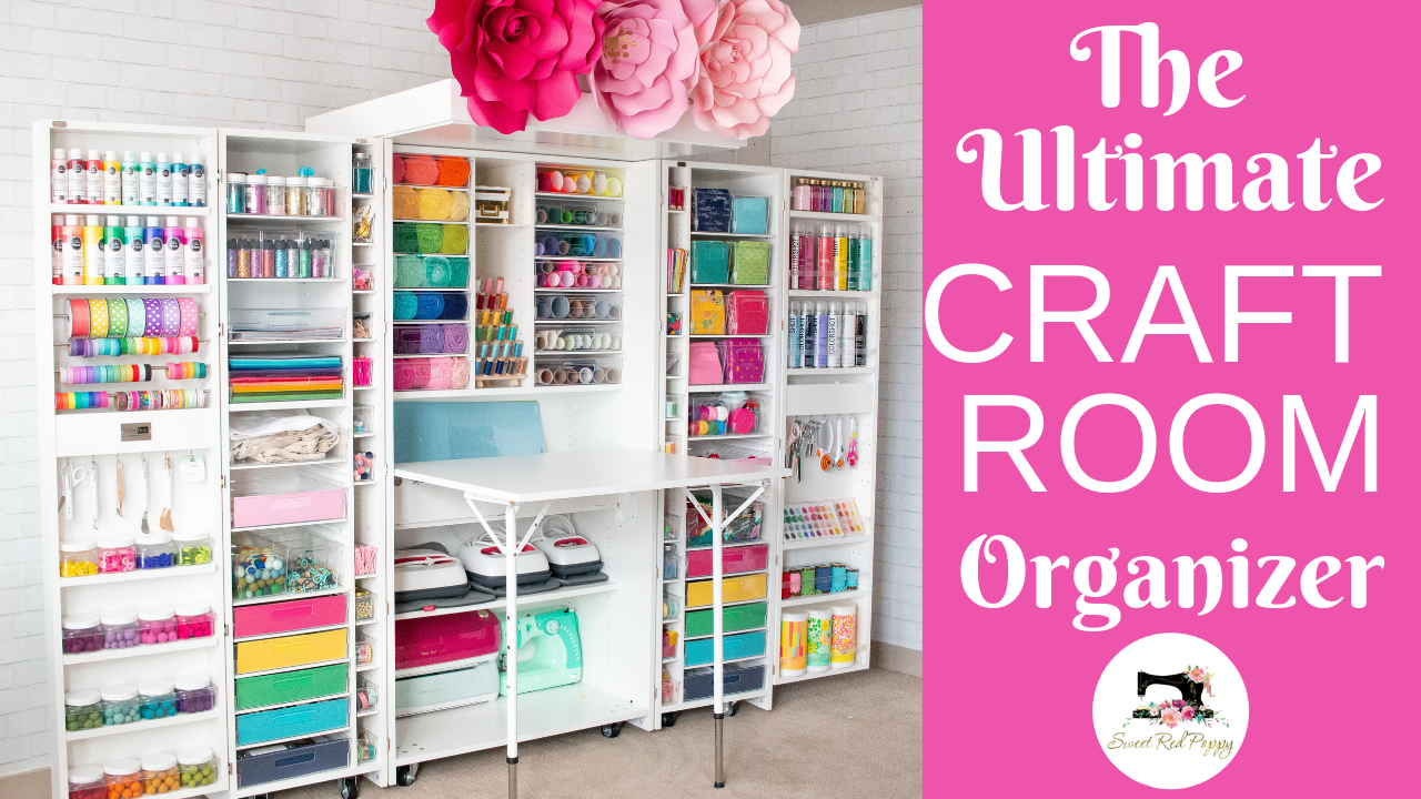 As an avid crafter, I'm always in search of ways to keep my craft room clean and organized. I'm the first to admit I'm not a clean crafter, but having an organized space makes it SO much easier to put everything back where it belongs!  #craft #sew #cricut