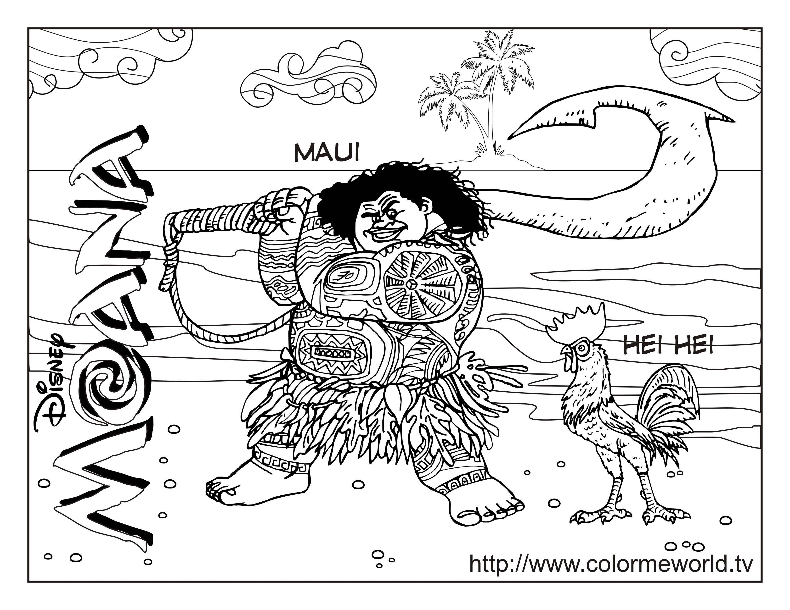 Moana Coloring Pages Free Printable Moana Coloring Sheets For Kids