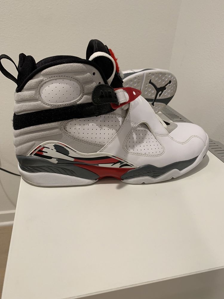 check out dd3e9 22ece Air Jordan VIII 8 Retro Men s Size 12 White Gym Red Wolf Grey 305381-103   fashion  clothing  shoes  accessories  mensshoes  athleticshoes (ebay link)