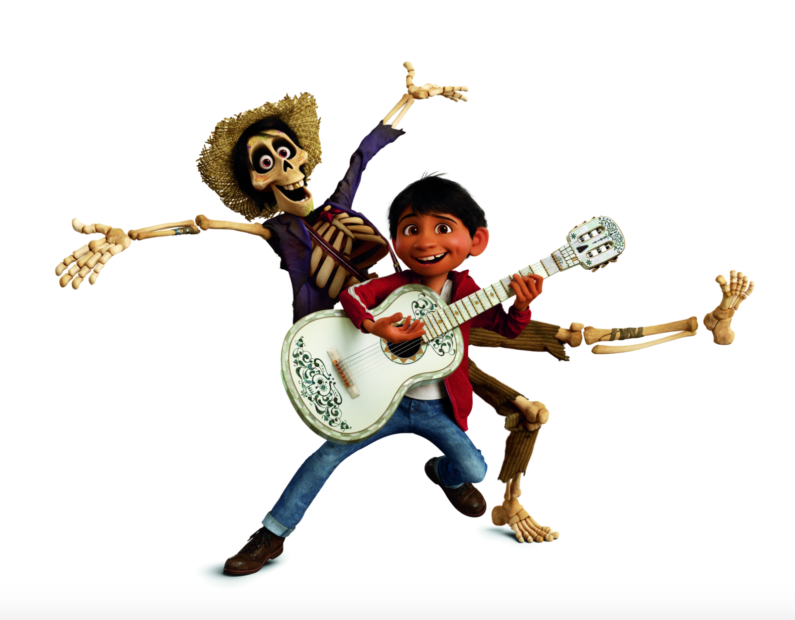 Hector And Miguel Rivera Singing And Dancing With The Guitar From Coco Disney Disney Pixar Disney Emoji Blitz