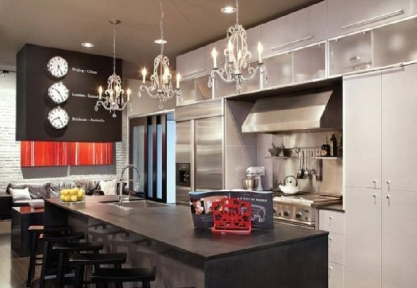 Dining Room Interior And Furniture At Modern Minimalist Style Loft Simple New York Kitchen Design Style Inspiration Design