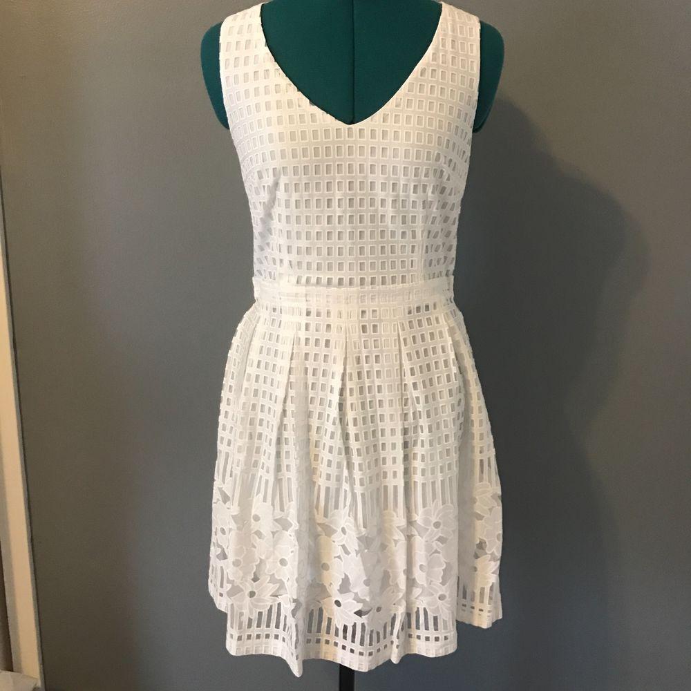 White lace apron ebay - Detalles Acerca De Modcloth Everly Blanco Cuello En V Vestido Floral Playa Vacaciones Boda Nupcial M S Nuevo Mostrar T Tulo Original