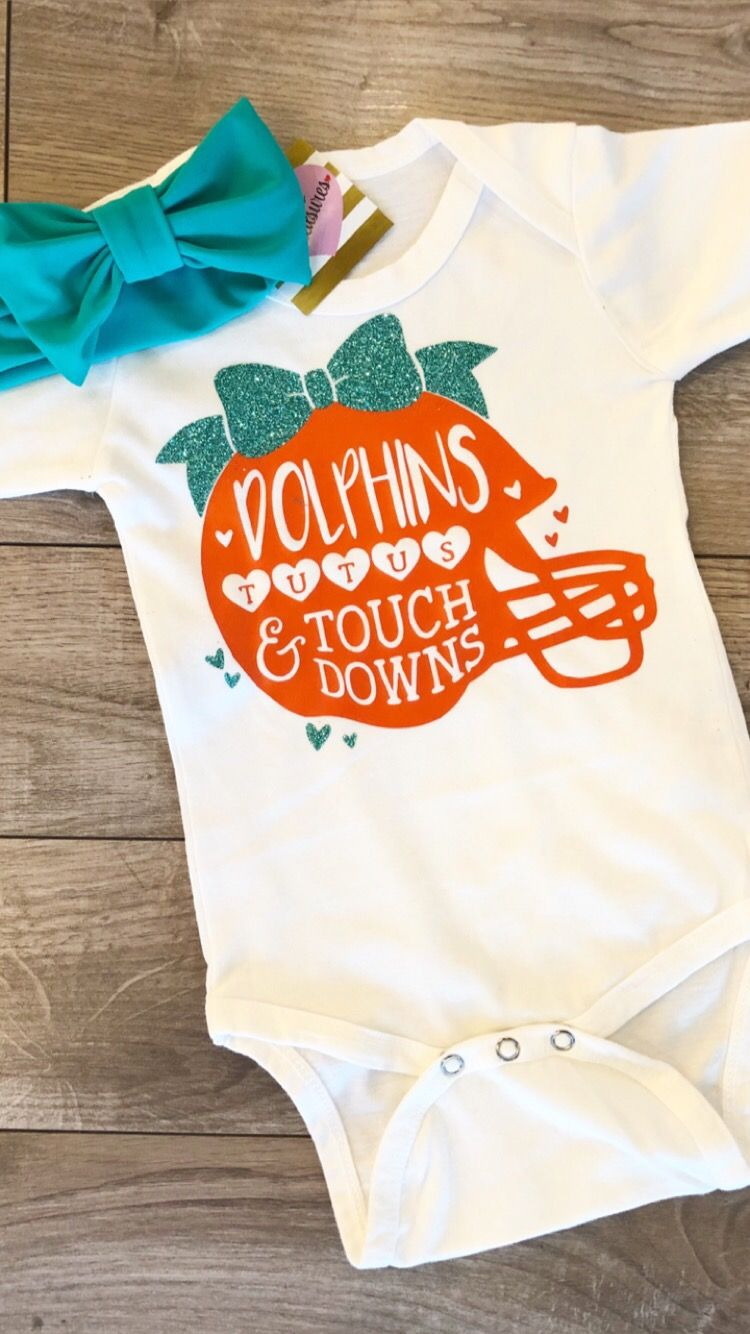 d10a1612 Miami Dolphins onesie for baby girl newborn | CARYS TREASURES | Baby ...