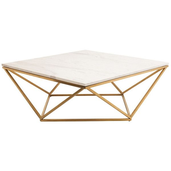 Galaxy Coffee Table With Gold Brushed Legs Marble Top Black