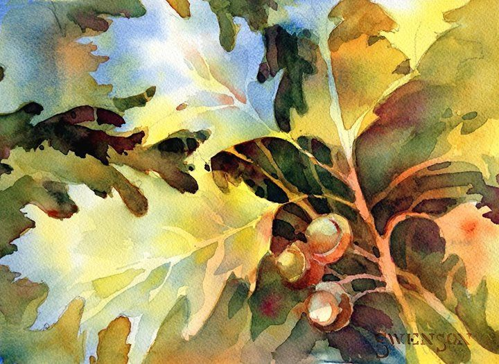 Great Example Of Negative Painting Watercolor Jd Art