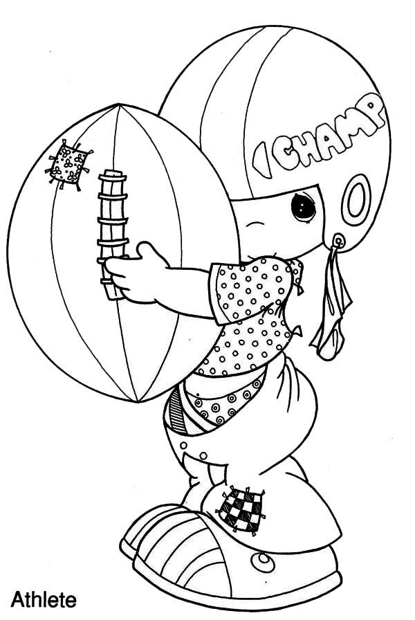 Precious Moments, : I am a Champion Precious Moments Coloring Page ...