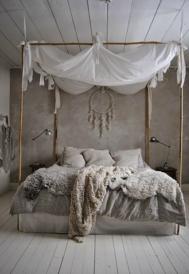 Beau Scandinavia Inspired Neutral Bedroom Design With Canopy Bed And Drem  Catcher For Peacuful Sleep My Decorating My Home My Cocoon Heavy Beautiful  Window ...