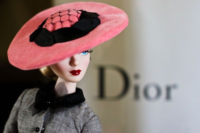 Dior Barbie has the most chic of  chapeaus