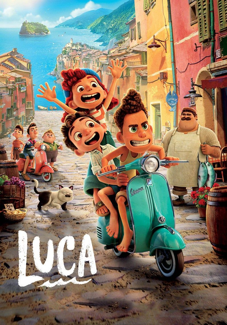 Luca (2021) ver3 Movie gloss poster 17 x 24 inches