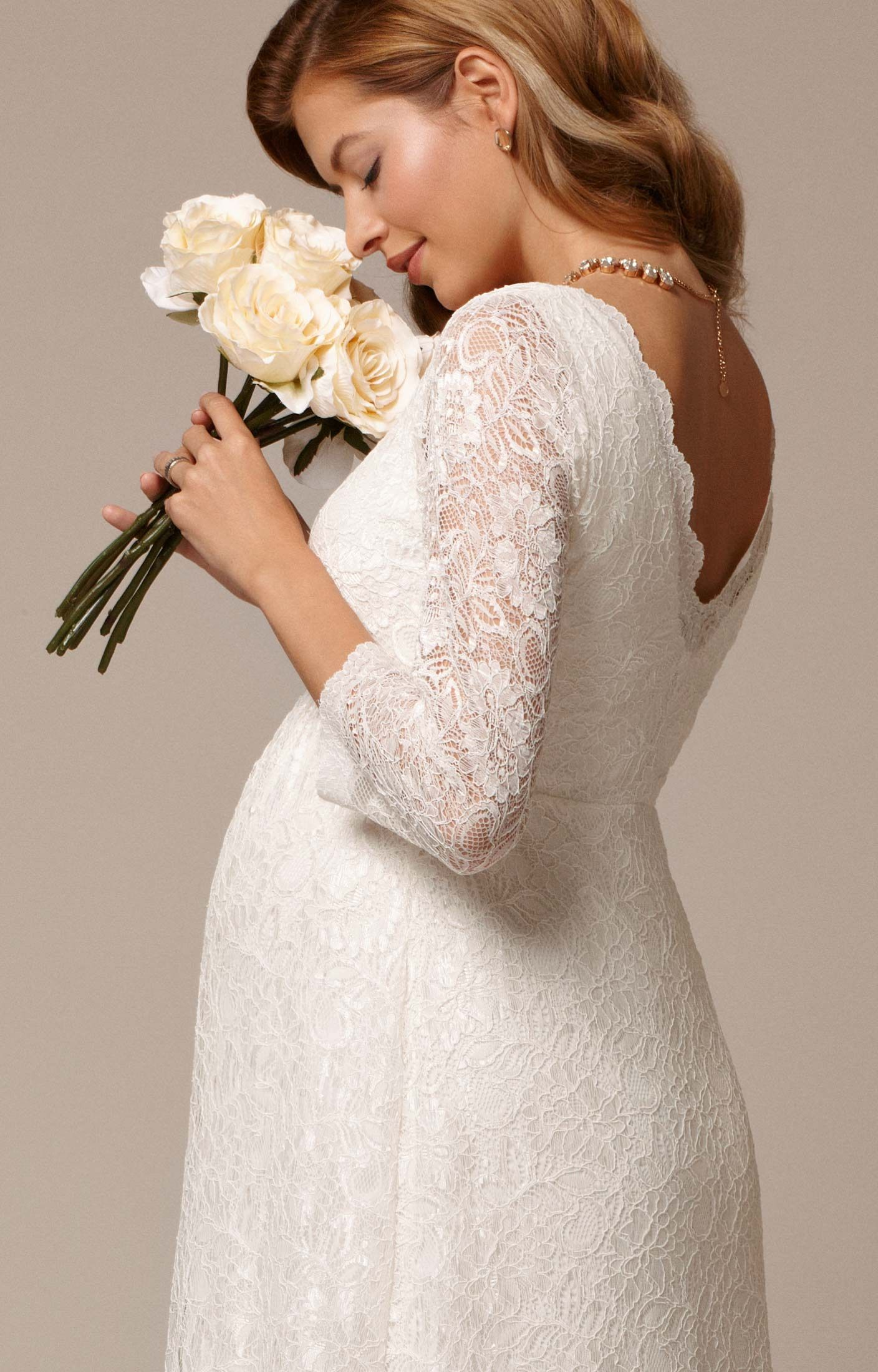 Chloe Lace Maternity Wedding Gown Ivory by Tiffany Rose | our ...