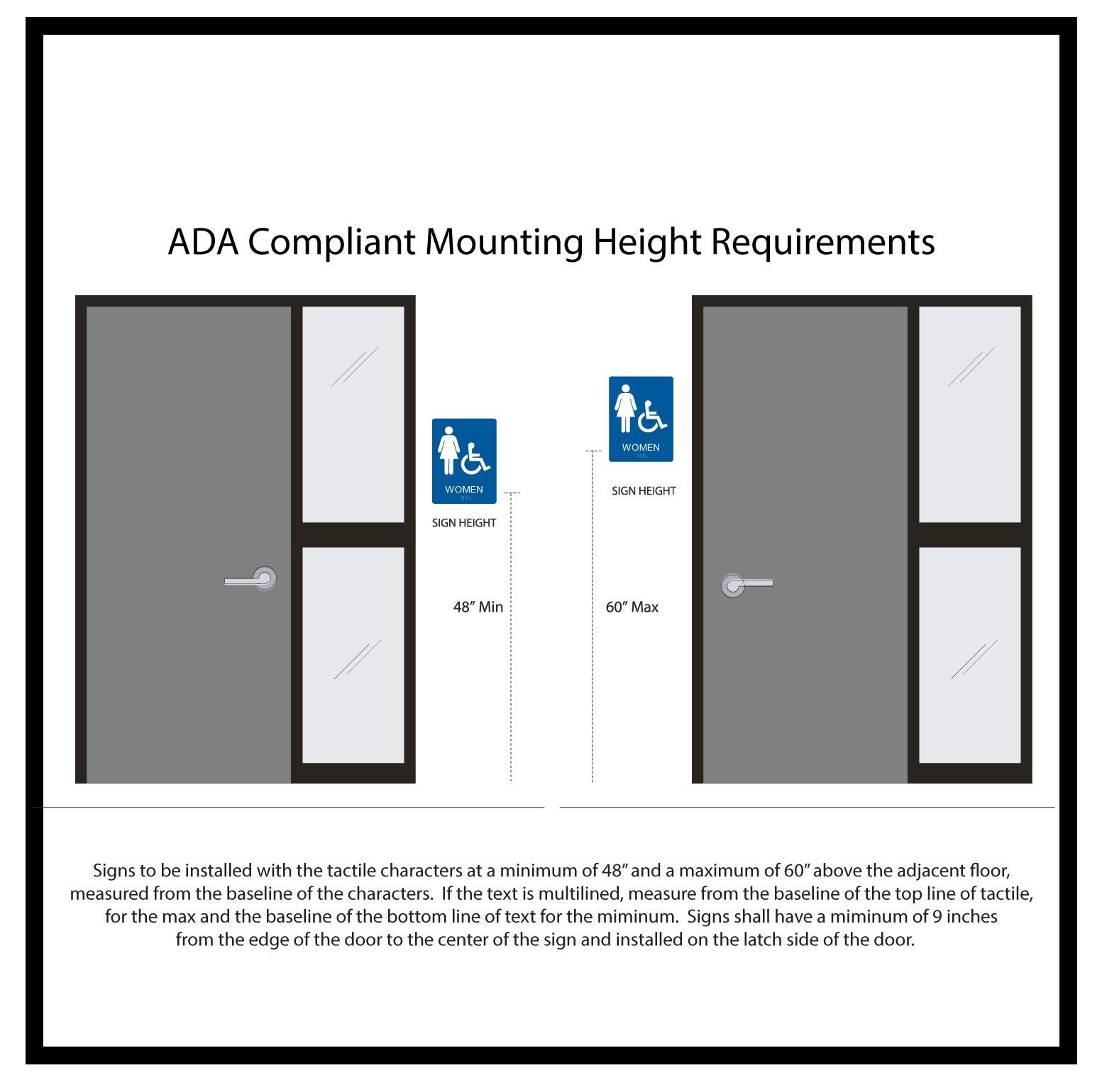 Ada Compliant Signs Mounting Height Design Guidelines Ada Signs