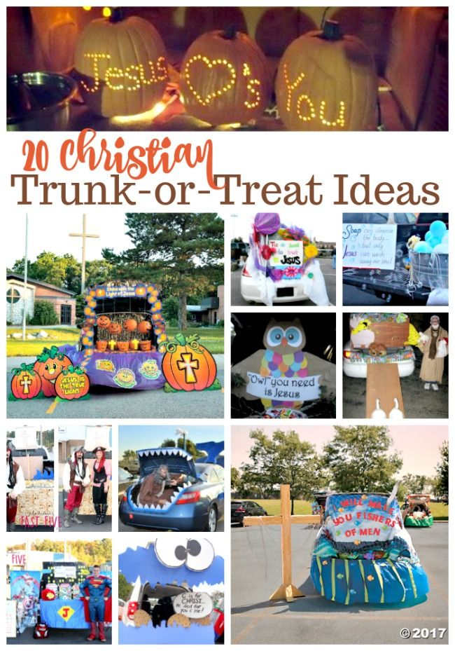 Christian Trunk or Treat Ideas for a Non-Scary Halloween #trunkortreatideasforcarsforchurch