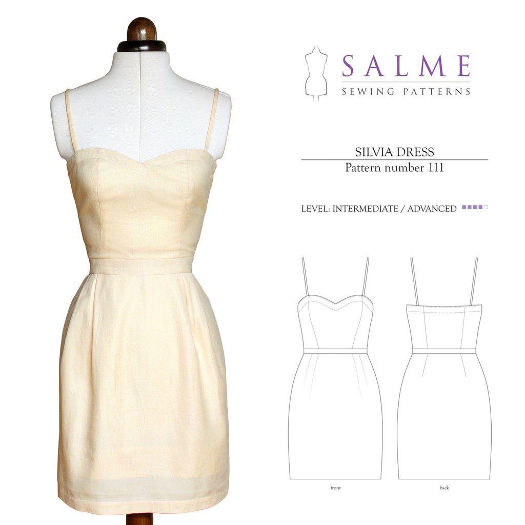 Digital Sewing Pattern - Silvia Dress Salme   Make Clothes ...