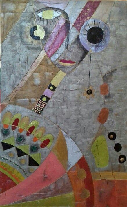 SaniSaP Toile  Enduit peinture et cire Peinture creasbtraite - peindre sur un enduit cire