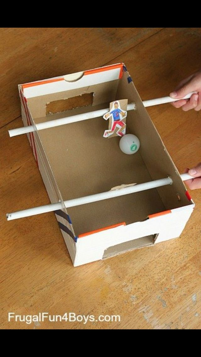 Recycled Table Football Soccer Crafts Diy For Kids Crafts For Boys