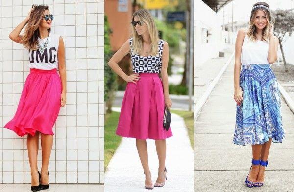 Looks com saia midi para o verão - Site de Beleza e Moda