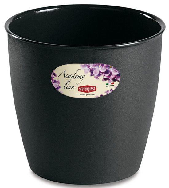 Pot ou Cache Pot Interieur et Exterieur 4.5 L ACADEMY ROND Anthracite au meilleur prix ! - LeKingStore