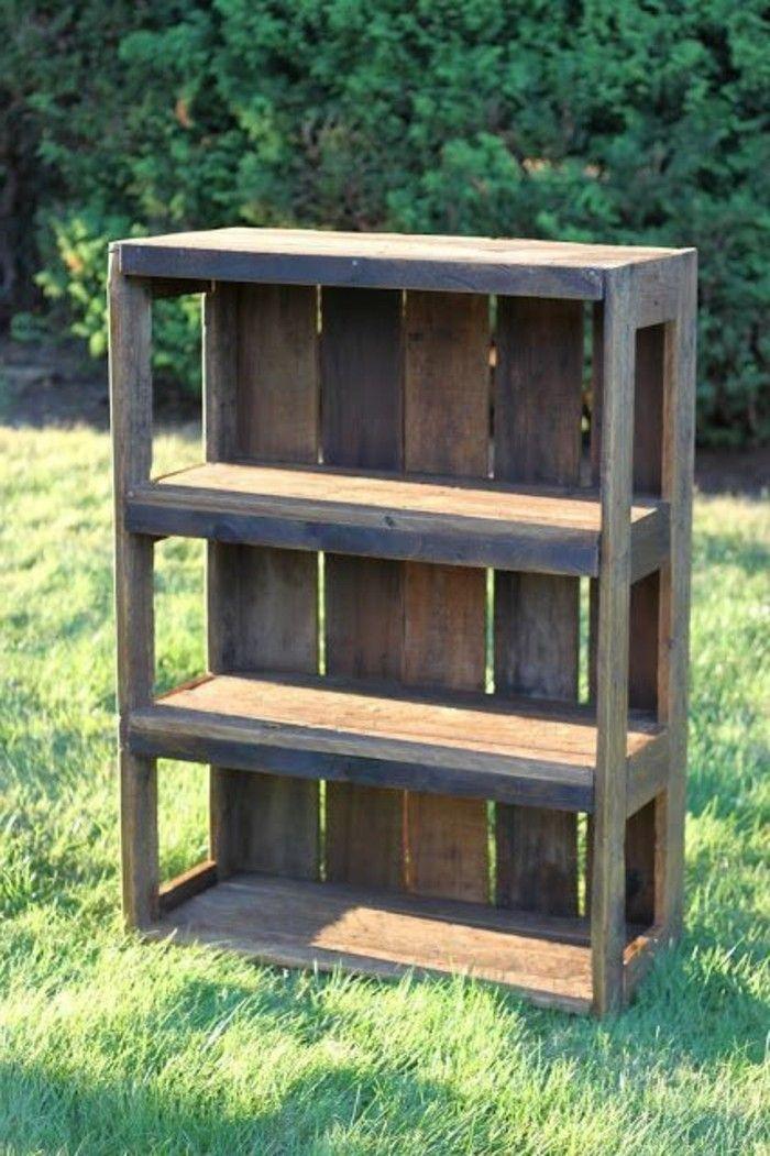 Étagère en palette de bois – une bouffée d\'inspiration rustique