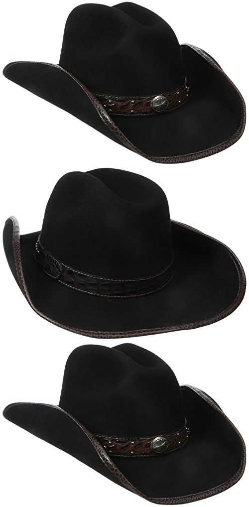 Scala Women s Wool Felt Western Hat with Faux Leather Band and Concho e6eaf81ef2a