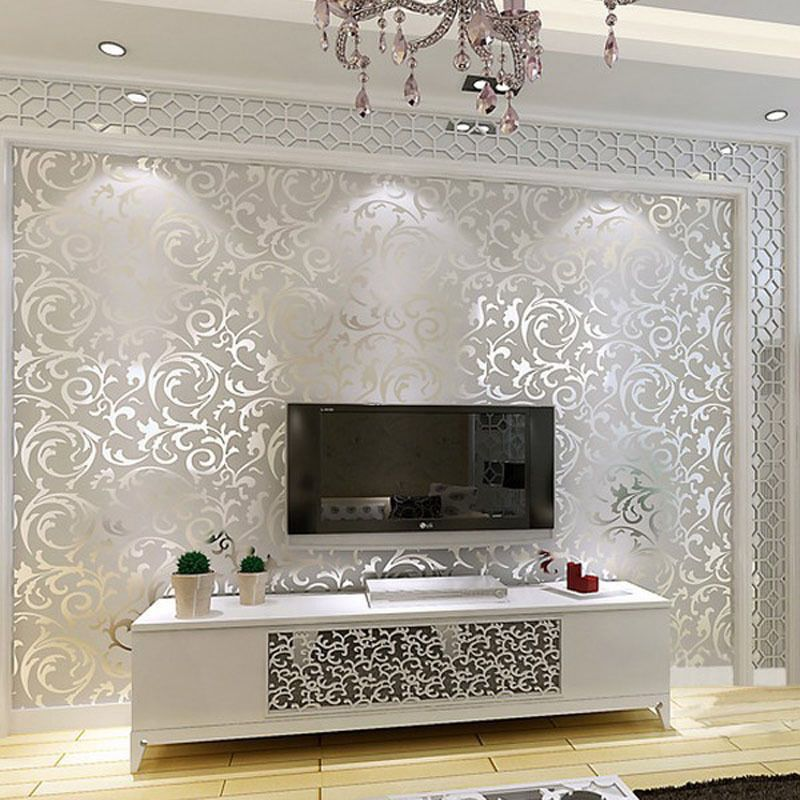 Details About 10m Wallpaper Damascus Embossed Continental