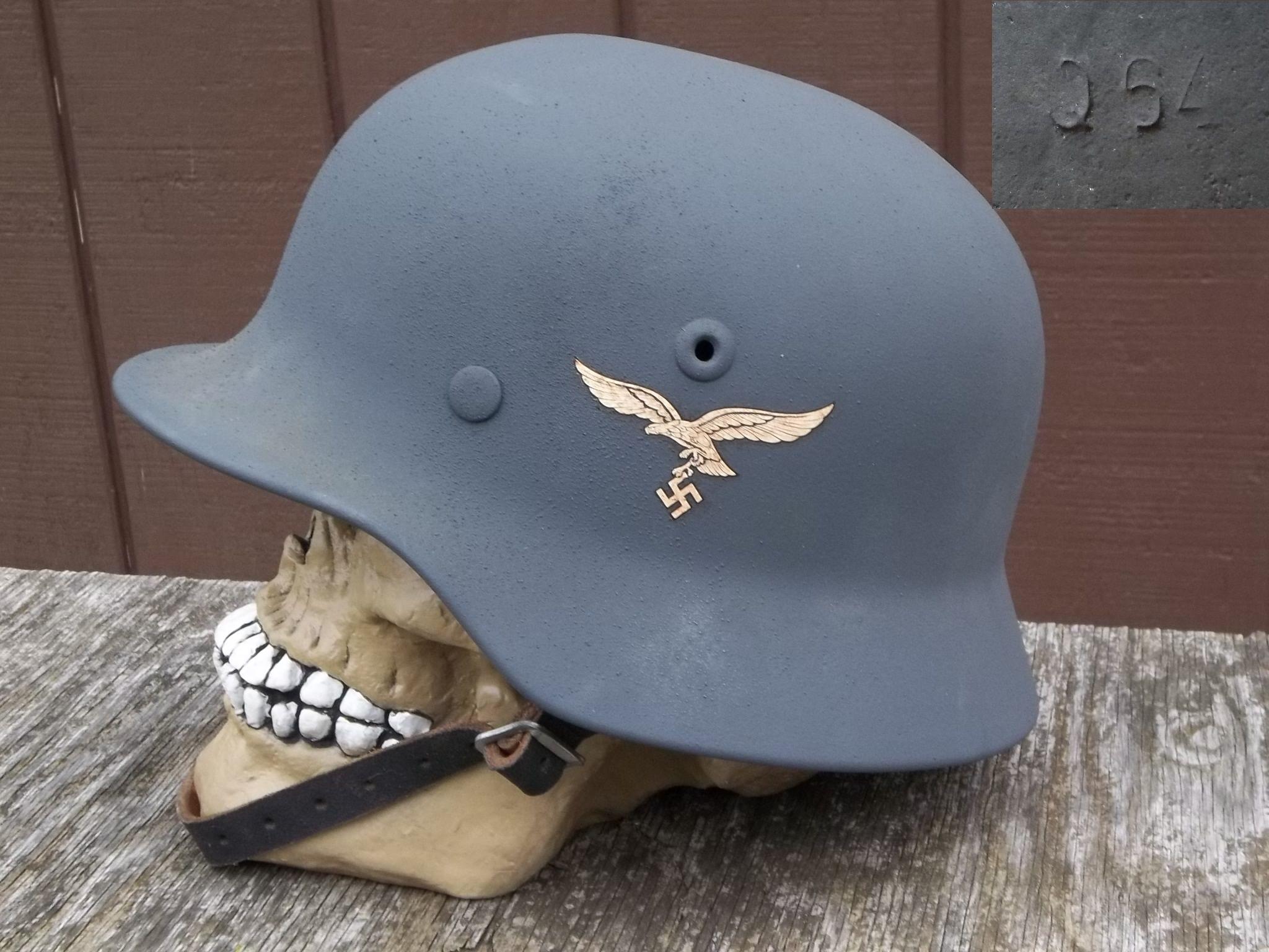 Original German Helmet WWII M40 shell Q64 (lot DN194