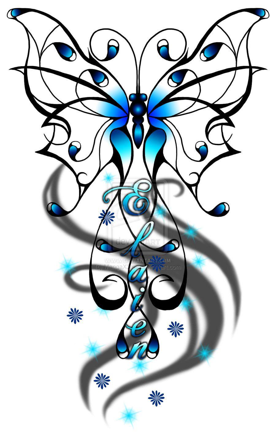 Photo of Blue Butterfly – Demande de tatouage par MangaX3me sur DeviantArt