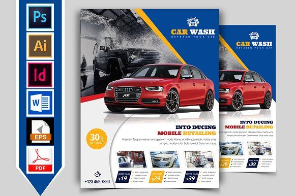 Car Wash Flyer Template Vol-04 by Imagine Design Studio on - car flyer template