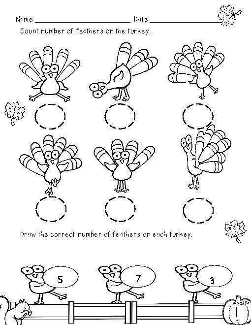 Thanksgiving Unit Bundle For Common Core Kindergarten