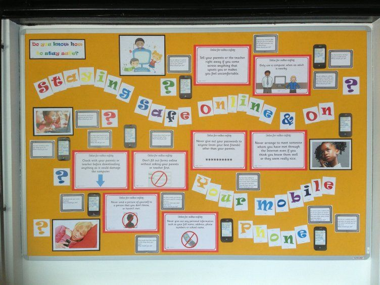Ict Staying Safe Online Mobile Phones Tablets Internet Phones Display Classroom Display Early Classroom Displays Ict Display Teaching Resources Primary