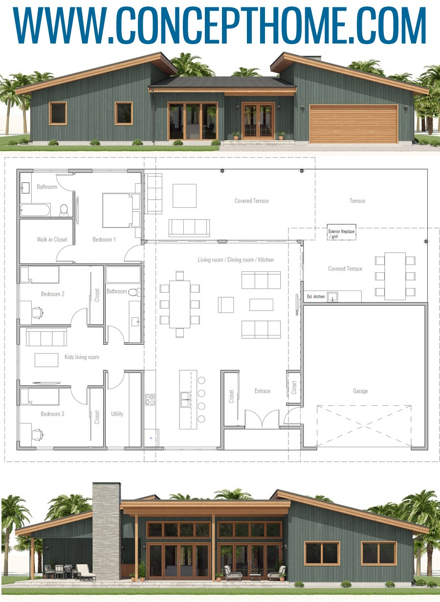 House Plan Ch557 In 2020 Model House Plan Sims House Plans Contemporary House Plans
