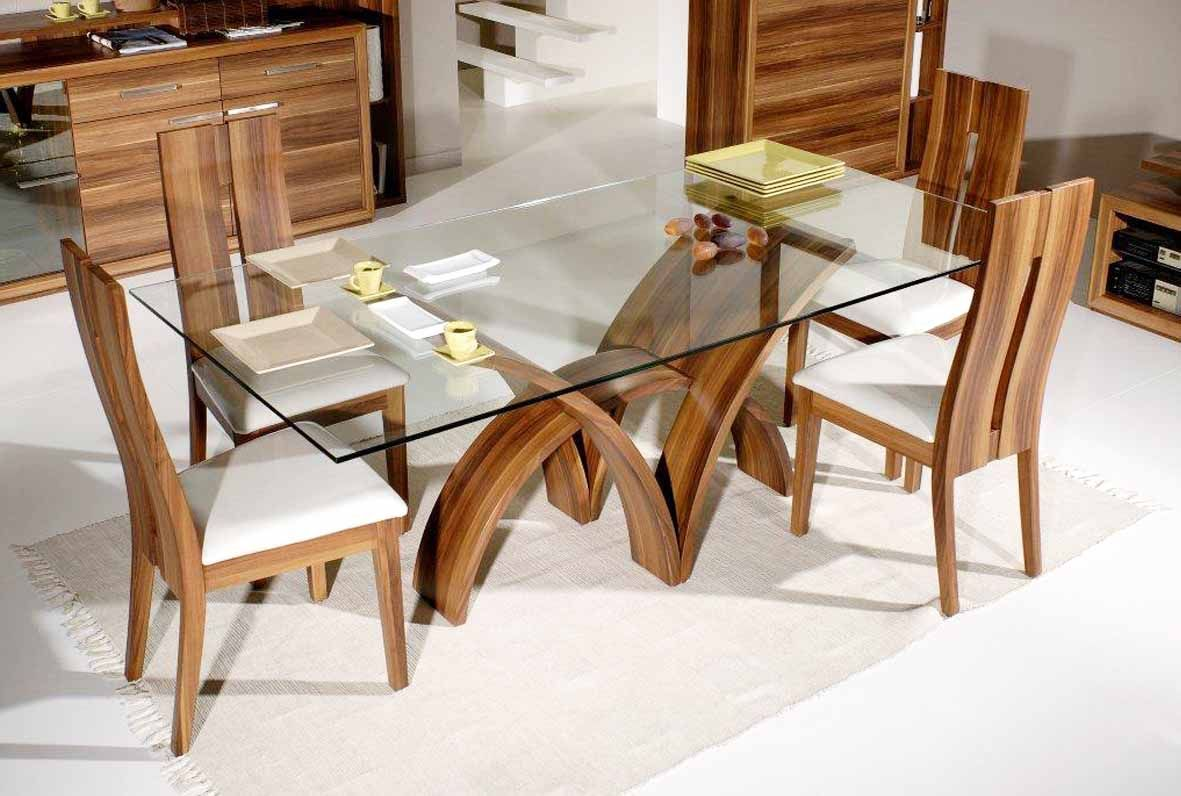 Rectangular Contemporary Glass Dinning Table Glass Dining Table