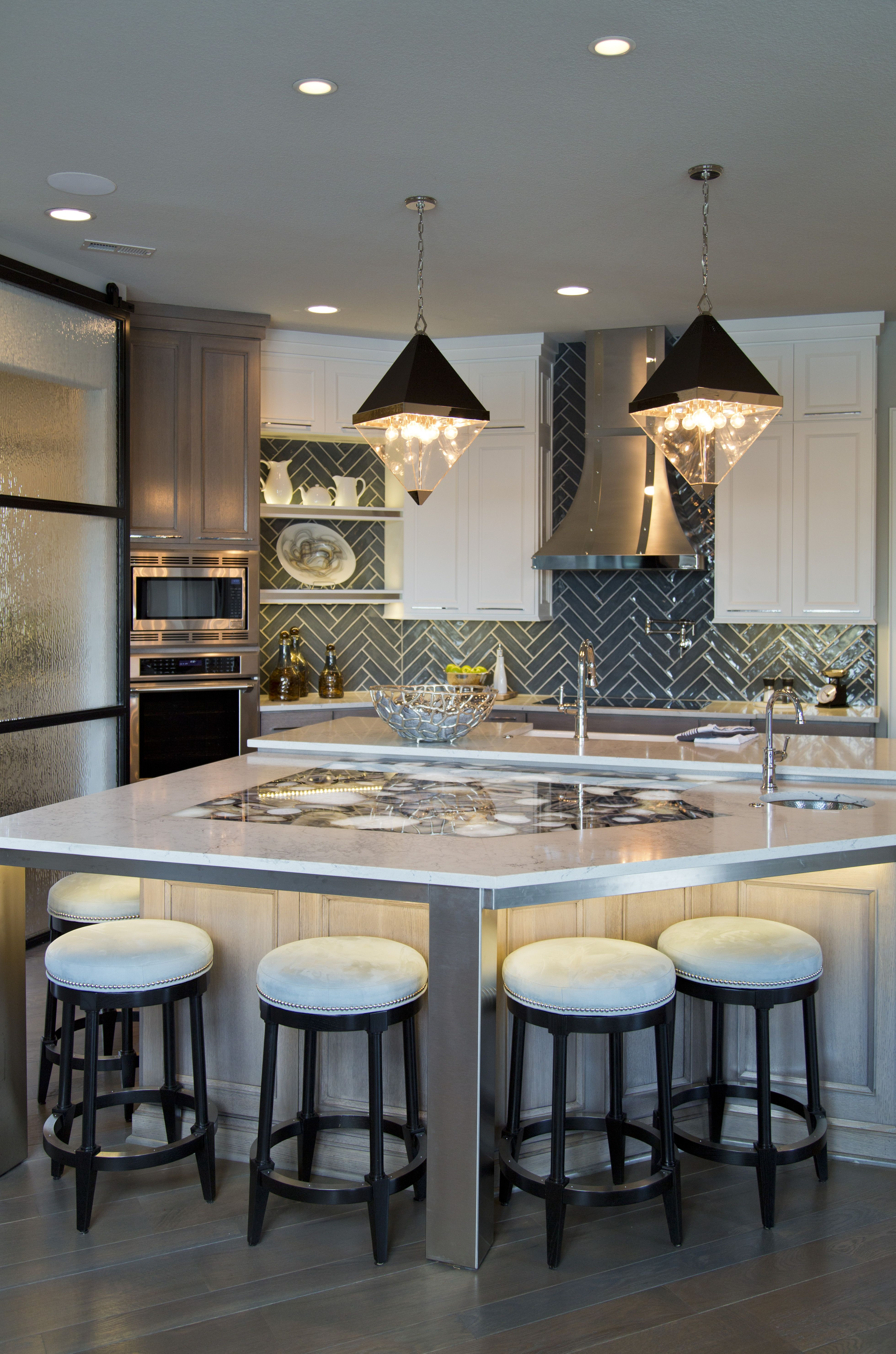 DREAM kitchen by Don Julian Builders. Diamond shaped ...