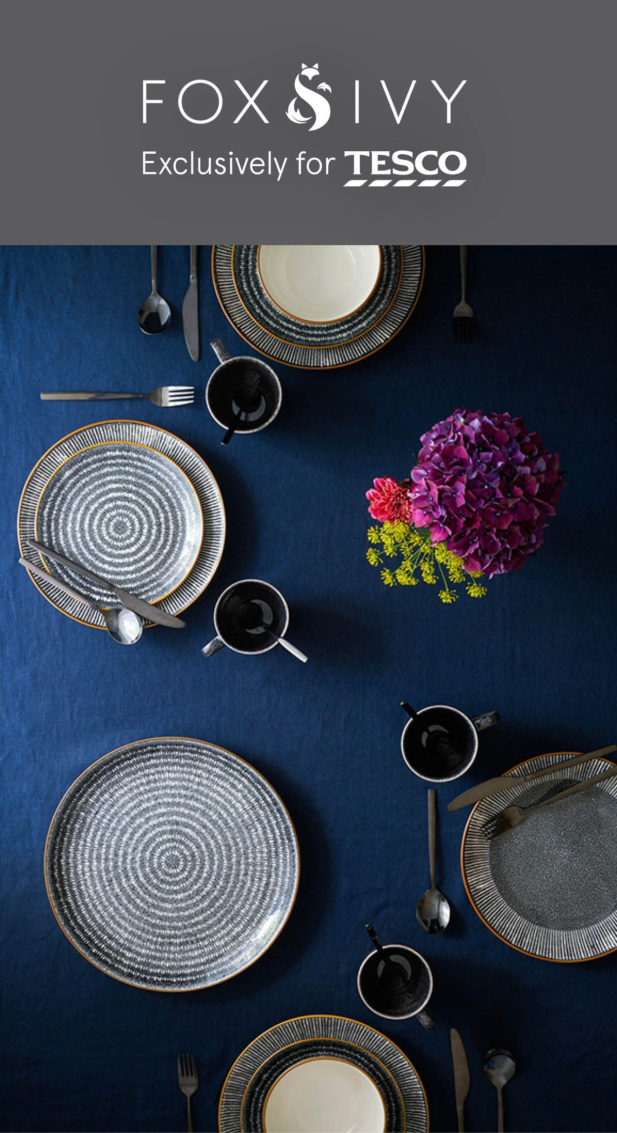 Whether You Re Hosting A Feast Or Cosying Up At Home Luxury Tableware Turns Eating Into An Event This On Trend Monoch Luxury Tableware Tableware Design Tesco